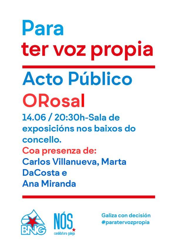 Infominho - Acto público aberto do BNG- Nós-Candidatura Galega este martes no Rosal - INFOMIÑO - Informacion y noticias del Baixo Miño y Alrededores.