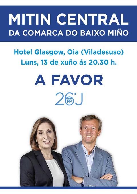 Infominho - Mitin central do Partido Popular da Comarca do Baixo Miño este luns en Oia - INFOMIÑO - Informacion y noticias del Baixo Miño y Alrededores.
