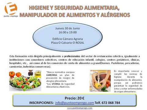 Infominho -  ACOR organiza no Rosal un Curso de Manipulador de Alimentos - INFOMI�O - Informacion y noticias del Baixo Mi�o y Alrededores.