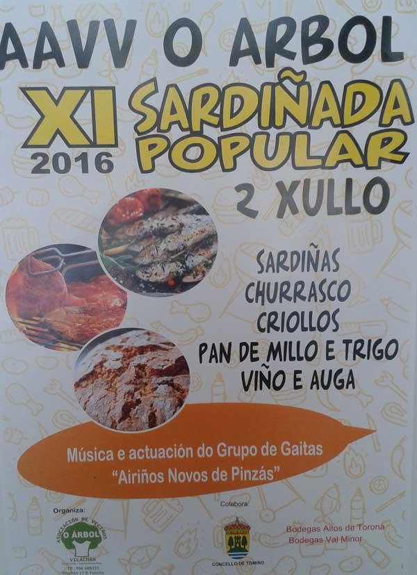 Infominho -  XI Sardi�ada Popular o 2 de xullo en Vilach�n - Tomi�o - INFOMI�O - Informacion y noticias del Baixo Mi�o y Alrededores.