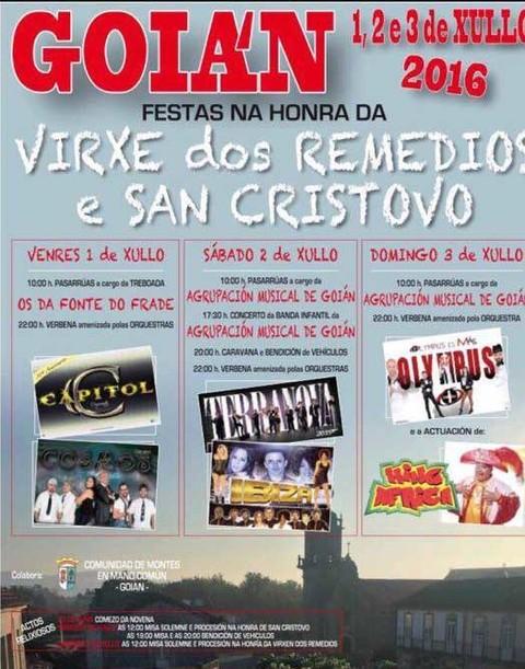 Infominho -  Goi�n acolle do 1 � 3 de xullo as Festas na Honra da Virxe dos Remedios e San Cristovo - INFOMI�O - Informacion y noticias del Baixo Mi�o y Alrededores.