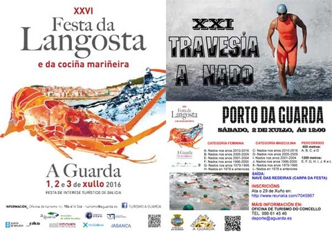 Infominho -  A Festa da Langosta contar� coa XXI edici�n da Traves�a a Nado Porto da Guarda - INFOMI�O - Informacion y noticias del Baixo Mi�o y Alrededores.