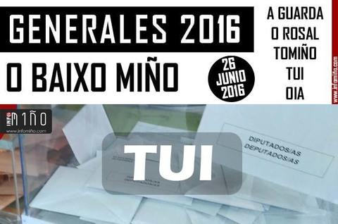 Infominho - Resultados Elecciones Generales 26J2016 no Concello de Tui - INFOMIÑO - Informacion y noticias del Baixo Miño y Alrededores.