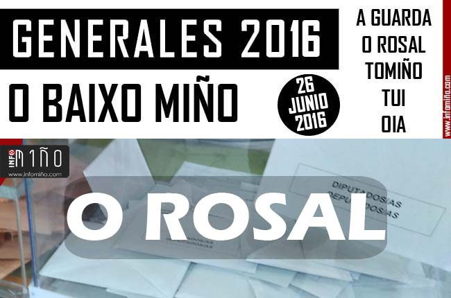 Infominho - Resultados Elecciones Generales 26J2016 no Concello de O Rosal - INFOMIÑO - Informacion y noticias del Baixo Miño y Alrededores.