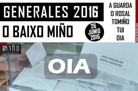 Infominho - Resultados Elecciones Generales 26J2016 no Concello de Oia - INFOMIÑO - Informacion y noticias del Baixo Miño y Alrededores.
