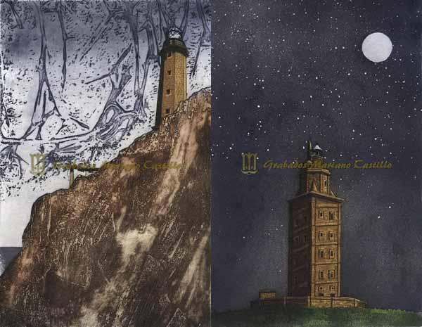 Infominho -  Inauguraci�n da exposici�n -Casas de luz-, mostra de grabados de Mariano Castillo sobre os faros galegos  - INFOMI�O - Informacion y noticias del Baixo Mi�o y Alrededores.