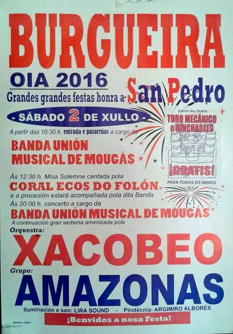 Infominho -  Grandes Festas na honra de San Pedro este s�bado en Burgueira-Oia - INFOMI�O - Informacion y noticias del Baixo Mi�o y Alrededores.