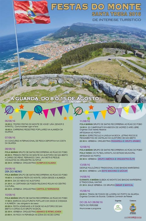 Infominho - Programación das Festas do Monte 2016 na Guarda - INFOMIÑO - Informacion y noticias del Baixo Miño y Alrededores.