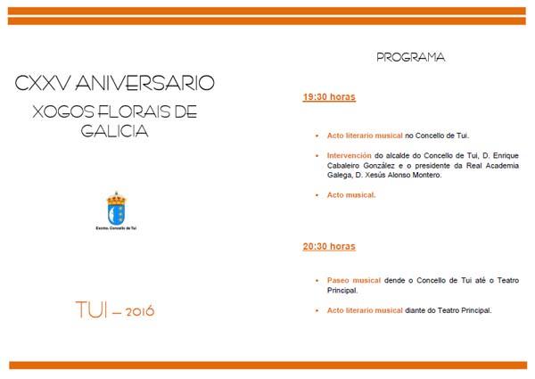 Infominho -  Tui conmemora este venres o 125 aniversario dos primeiros Xogos Florais de Galicia - INFOMI�O - Informacion y noticias del Baixo Mi�o y Alrededores.