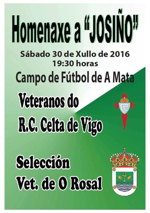 Infominho -  Homenaxe a Josi�o este s�bado 30 de xullo no Campo da Mata do Rosal - INFOMI�O - Informacion y noticias del Baixo Mi�o y Alrededores.