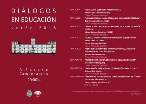 Infominho -  Quinto faladoiro dentro do ciclo Di�logos en educaci�n  - INFOMI�O - Informacion y noticias del Baixo Mi�o y Alrededores.