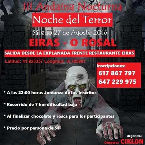 Infominho -  III andaina nocturna Noche del terror el 27 de agosto en O Rosal - INFOMI�O - Informacion y noticias del Baixo Mi�o y Alrededores.
