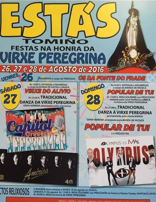 Infominho -  Festas na honra da Virxe Peregrina en Est�s-Tomi�o do 26 � 28 de agosto - INFOMI�O - Informacion y noticias del Baixo Mi�o y Alrededores.