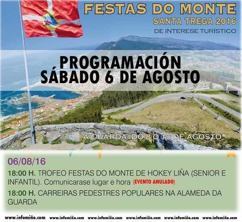 Infominho - Programación Festas do Monte 2016 - Hoxe Sábado Carreiras Pedestres ás 18:00h - INFOMIÑO - Informacion y noticias del Baixo Miño y Alrededores.