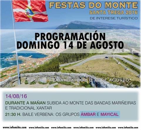 Infominho - Programación Festas do Monte 2016 - Domingo 14 - INFOMIÑO - Informacion y noticias del Baixo Miño y Alrededores.
