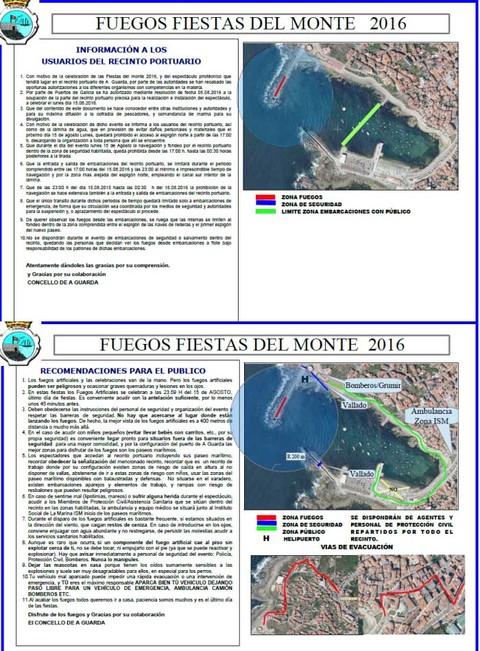 Infominho - Recomendacións a ter en conta durante os fogos de lucería das Festas do Monte - INFOMIÑO - Informacion y noticias del Baixo Miño y Alrededores.