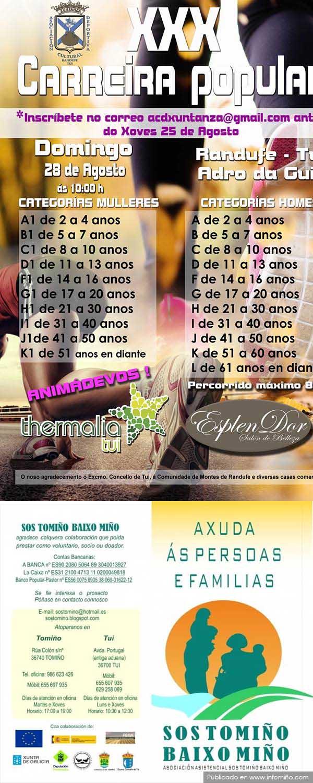 Infominho -  A XXX Carreira Popular de Randufe ter� lugar o domingo 28 de agosto - INFOMI�O - Informacion y noticias del Baixo Mi�o y Alrededores.
