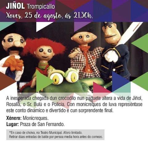 Infominho -  Espect�culo de monicreques -Ji�ol Trompicallo- este xoves na Praza de San Fernando de Tui - INFOMI�O - Informacion y noticias del Baixo Mi�o y Alrededores.