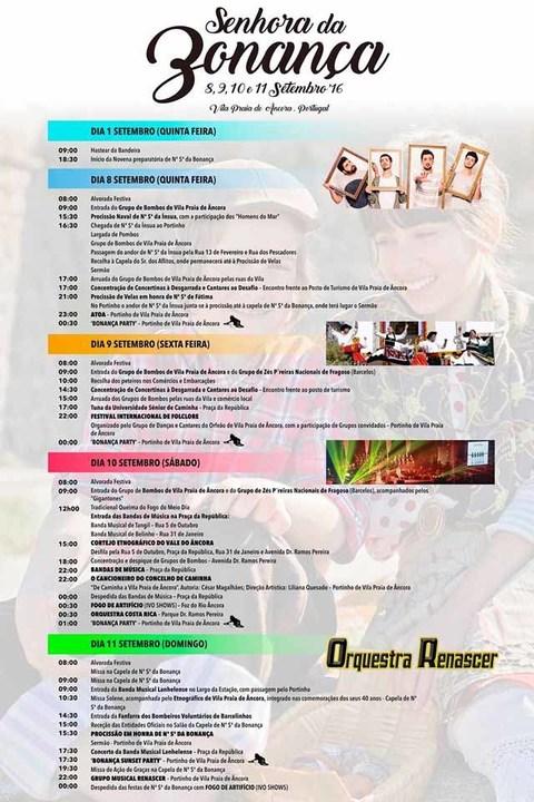 Infominho -  Programa das Festas da Senhora da Bonan�a em Vila Praia de �ncora - INFOMI�O - Informacion y noticias del Baixo Mi�o y Alrededores.