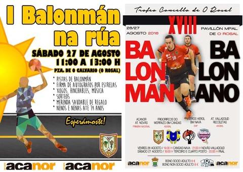 Infominho -  O Rosal se volcar� con el balonmano este fin de semana - INFOMI�O - Informacion y noticias del Baixo Mi�o y Alrededores.