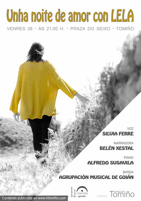 Infominho -  A Agrupaci�n Musical de Goi�n presenta este venres en concerto -Unha noite de amor con Lela- - INFOMI�O - Informacion y noticias del Baixo Mi�o y Alrededores.