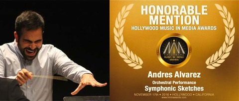 Infominho - El compositor goianés Andrés Álvarez recibe una mención de honor de la Hollywood Music in Media Awards por SYMPHONIC SKETCHES  - INFOMIÑO - Informacion y noticias del Baixo Miño y Alrededores.