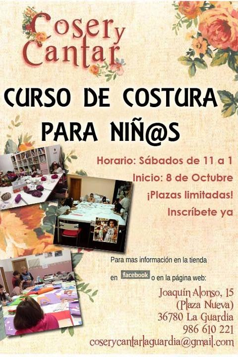 Infominho -  Inscripciones abiertas para el Curso de costura para ni�@s en Coser y Cantar A Guarda - INFOMI�O - Informacion y noticias del Baixo Mi�o y Alrededores.