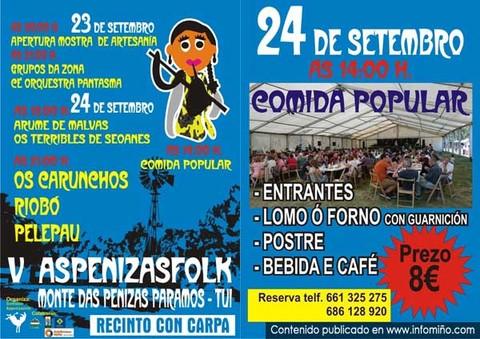 Infominho -  Aspenizasfolk llega a su V edici�n este fin de semana - INFOMI�O - Informacion y noticias del Baixo Mi�o y Alrededores.