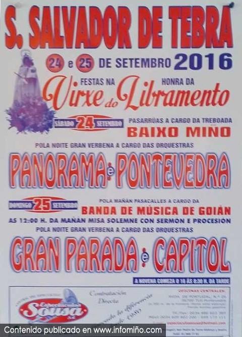 Infominho -  San Salvador de Tebra(Tomi�o) acolle esta fin de semana as Festas na honra da Virxe do Libramento - INFOMI�O - Informacion y noticias del Baixo Mi�o y Alrededores.