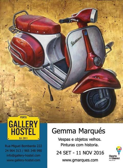 Infominho - Gemma Marqués expone en el Gallery Hostel de Oporto - INFOMIÑO - Informacion y noticias del Baixo Miño y Alrededores.