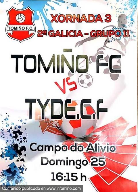 Infominho -  Este domingo Tomi�o Fc - Tyde CF no Campo do Alivio - INFOMI�O - Informacion y noticias del Baixo Mi�o y Alrededores.