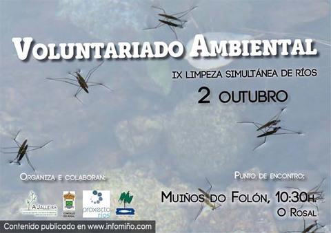 Infominho -  A Jalleira organiza o 2 de Outubro unha limpeza no r�o fol�n no Rosal - INFOMI�O - Informacion y noticias del Baixo Mi�o y Alrededores.