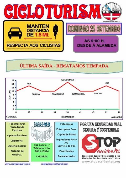 Infominho -  Sa�da cicloturismo co Clube Ciclista Guard�s o domingo 25 de septiembre de 2016 - INFOMI�O - Informacion y noticias del Baixo Mi�o y Alrededores.