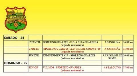 Infominho -  Partidos do Sporting Guard�s para esta fin de semana - INFOMI�O - Informacion y noticias del Baixo Mi�o y Alrededores.