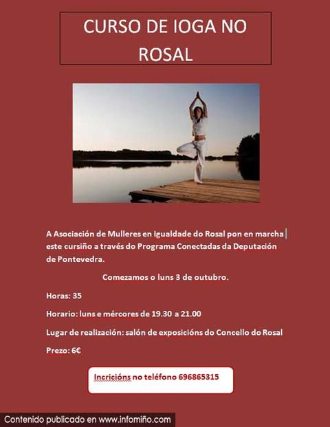 Infominho -  Abertas as incripci�ns para un Curso de Ioga no Rosal - INFOMI�O - Informacion y noticias del Baixo Mi�o y Alrededores.