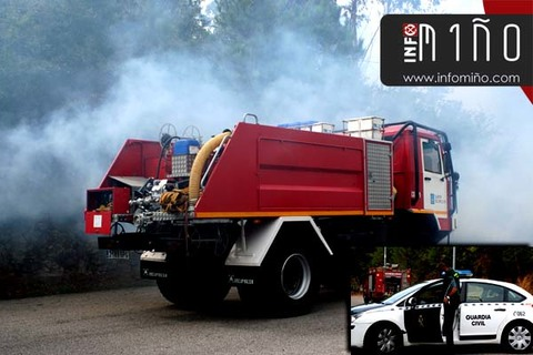 Infominho -  Sofocado un incendio forestal que afectou a m�is de 2000m2 no Rosal - INFOMI�O - Informacion y noticias del Baixo Mi�o y Alrededores.