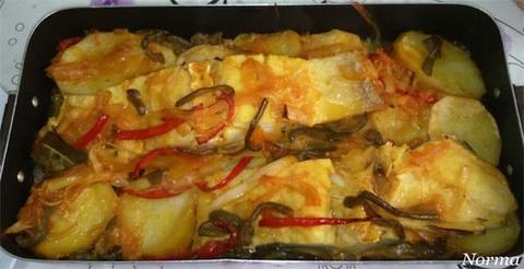Infominho - Receta: Bacalao con patatas y verduras al horno - INFOMIÑO - Informacion y noticias del Baixo Miño y Alrededores.