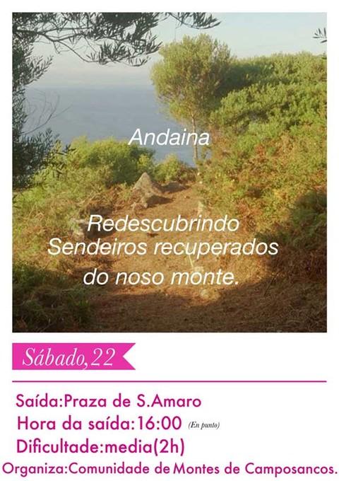 Infominho -  Unha Andaina oferta este s�bado redescubrir os sendeiros recentemente recuperados do Monte Sta. Trega de A Guarda - INFOMI�O - Informacion y noticias del Baixo Mi�o y Alrededores.