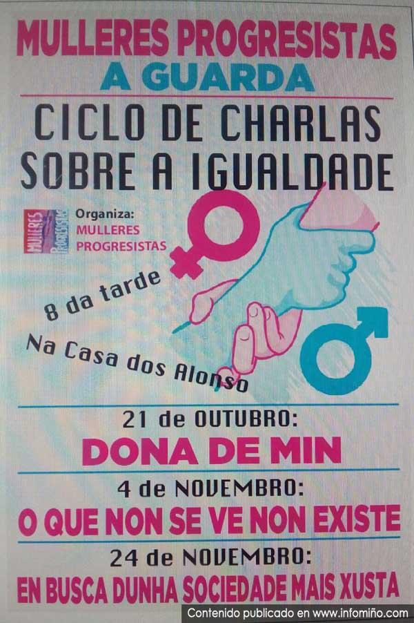 Infominho -  A Asociaci�n de Mulleres Progresistas de A Guarda organiza un Ciclo de Charlas sobre a Igualdade - INFOMI�O - Informacion y noticias del Baixo Mi�o y Alrededores.