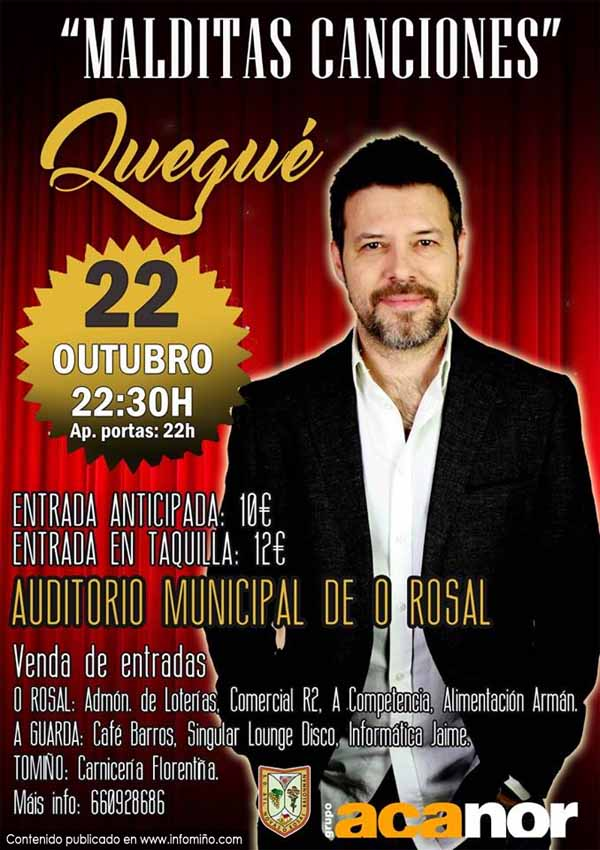Infominho -  Quequ� presenta este s�bado no Rosal o show -Malditas Canciones- - INFOMI�O - Informacion y noticias del Baixo Mi�o y Alrededores.