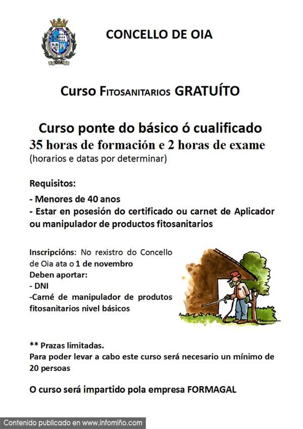 Infominho -  Curso gratuito de fitosanitarios en Oia - INFOMI�O - Informacion y noticias del Baixo Mi�o y Alrededores.