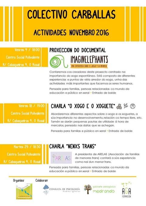 Infominho -  O Colectivo Carballas organiza no Rosal varias actividades no mes denovembro - INFOMI�O - Informacion y noticias del Baixo Mi�o y Alrededores.