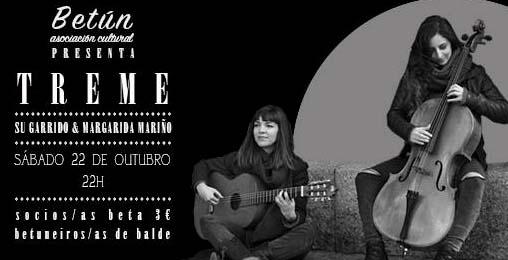 Infominho -  Concerto de TREME o s�bado 22 de outubro na Asociaci�n Cultural Bet�n - INFOMI�O - Informacion y noticias del Baixo Mi�o y Alrededores.