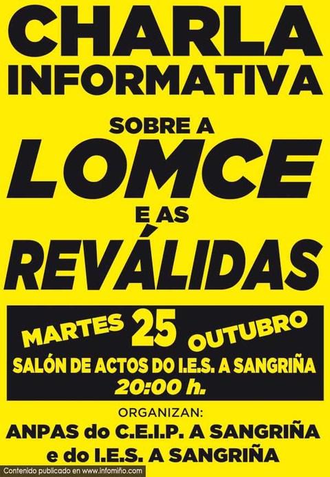 Infominho -  O IES A Sangri�a de A Guarda acolle unha charla informaciva sobre a LOMCE e as rev�lidas - INFOMI�O - Informacion y noticias del Baixo Mi�o y Alrededores.