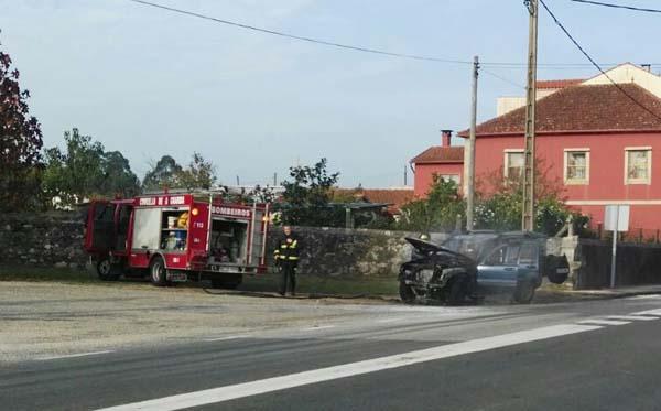 Infominho - Arde un vehículo na PO-552 en Goián - INFOMIÑO - Informacion y noticias del Baixo Miño y Alrededores.