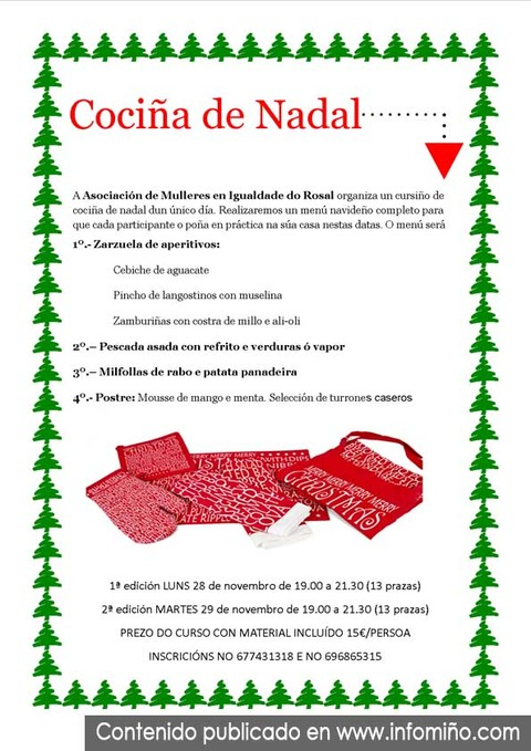 Infominho -  Curso para facer un menú navideño no Rosal - INFOMIÑO - Informacion y noticias del Baixo Miño y Alrededores.