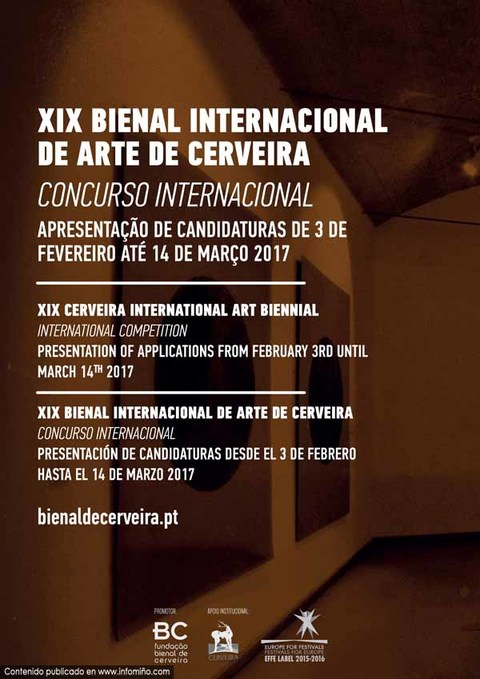 Infominho - Concurso Internacional da XIX Bienal Internacional de Arte de Cerveira lançado - INFOMIÑO - Informacion y noticias del Baixo Miño y Alrededores.