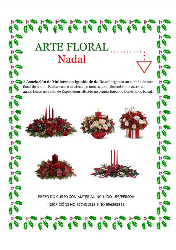 Infominho -  Obradoiro de arranxos florais de Nadal no Rosal - INFOMIÑO - Informacion y noticias del Baixo Miño y Alrededores.