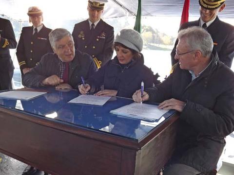 Infominho - Assinatura conjunta da Ata de Reconhecimento de Fronteira do Rio Minho - INFOMIÑO - Informacion y noticias del Baixo Miño y Alrededores.
