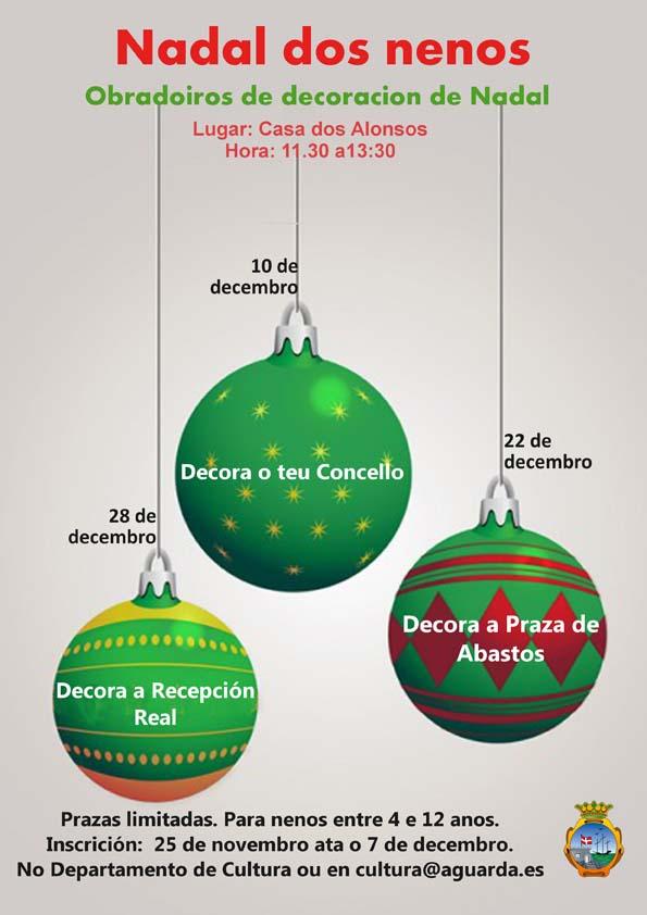 Infominho -  Aberto ata este mércores o prazo de inscrición para os obradoiros infantís de decoración -Nadal dos nenos- na Guarda - INFOMIÑO - Informacion y noticias del Baixo Miño y Alrededores.